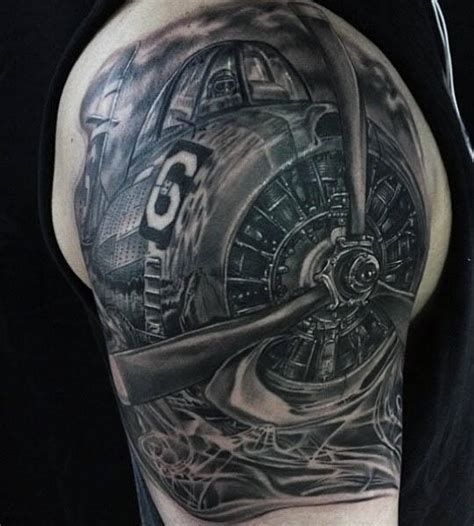 aviation tattoos designs 50 airplane tattoos for aviation and flight ideas