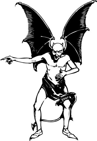 pointing devil clip art  clkercom vector clip art
