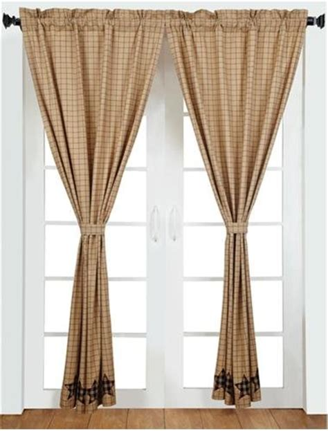 star net curtains vhc brands 5921 bingham star antique style 2 panel curtain
