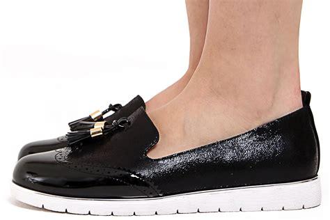 womens brogue loafers new womens low wedge heel slip on metallic shimmer tassled