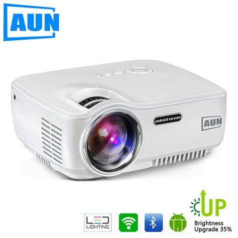 Projector Set aun projector upgraded am01s 1800 lumens led projector set in android 4 4 wifi bluetooth support
