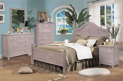 Beach Inspired Bedroom Furniture | tortuga bedroom collection rustic driftwood finish