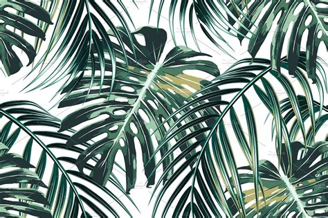jungle pattern vector jungle leaves vector pattern patterns creative market