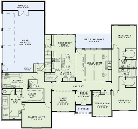 house plans with big bedrooms coolhouseplans com plan id 54420 1 800 482 0464