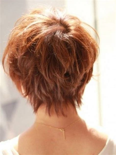 photos of the back of a haircut with a w neckline back view of pixie haircut