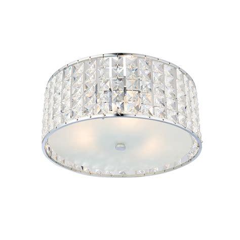 crystal bathroom ceiling light endon belfont clear crystal bathroom flush ceiling light