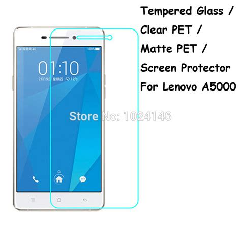 Tempered Glass Lenovo A5000 Anti Gores Screen Guard tempered glass clear pet matte pet screen protector protective protection guard for