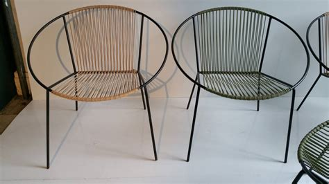 Mid Century Modern Patio Chairs Classic Mid Century Modern Outdoor Quot Hoop Quot Chairs By Salterini At 1stdibs