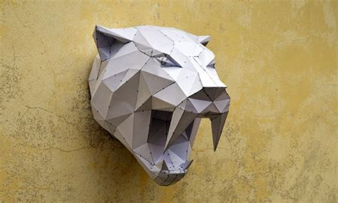 Make Your Own Papercraft - make your own sabertooh tiger papercraft animal paper