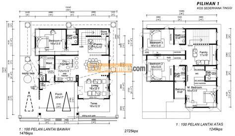 layout rumah 4 bilik pelan rumah 2 tingkat 5 bilik desainrumahid com