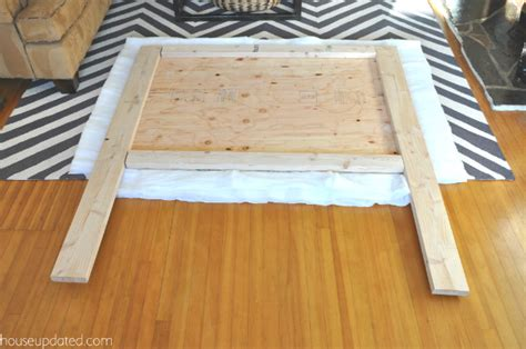 Make A Padded Headboard by How To Make A Nailhead Upholstered Headboard House Updated