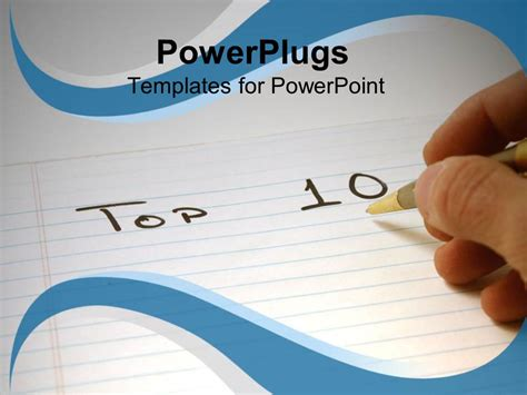 Powerpoint Template Hand Writing With Pen On Notepad 29773 Writing Powerpoint Template