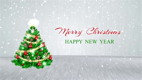merry christmas happy  year  motion background  hd youtube