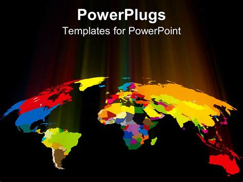 Powerpoint Template World Map Showing Countries In World Powerpoint Template