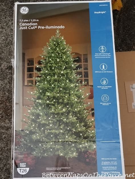 ge fresh cut artificial tree ge canadian just cut tree a beautiful tree with one lighting