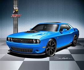Blue Dodge Challenger 2016 2017 Dodge Challenger Print Posters By
