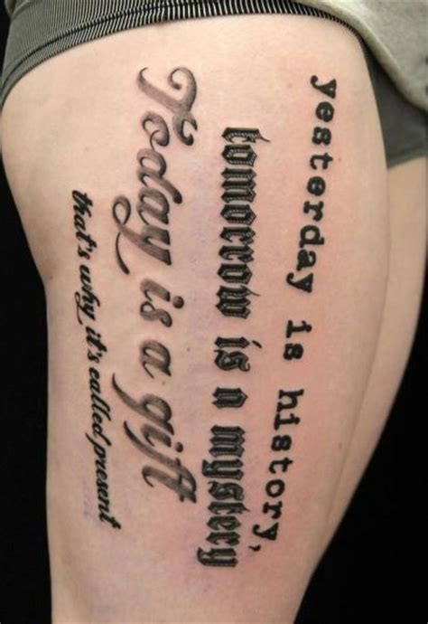 lettering thigh fonts tattoo by skin deep art