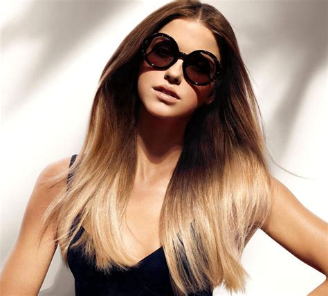 womens hairstyle ombre gradient hair coloring trendiest hair dye techniques of the winter 2014 2015