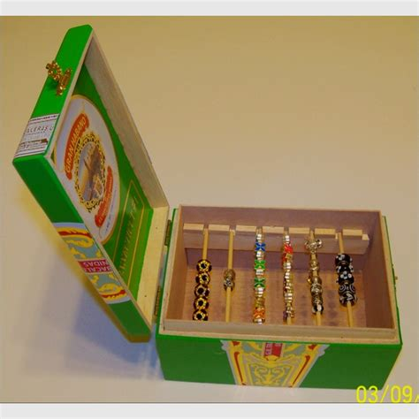 cigar box craft projects cigar box bead holder crafts