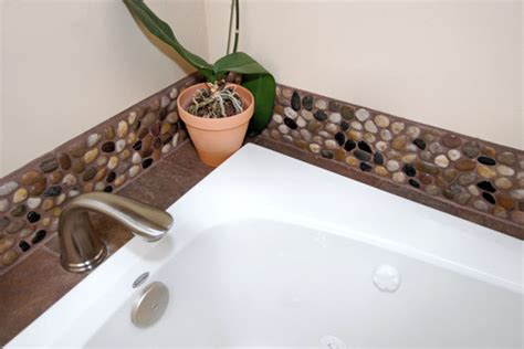Pebble Tiles Bathroom Polished Mixed Pebble Tile Bathroom Backsplash Pebble