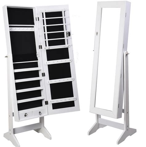 Free Standing Length Mirror Jewelry Armoire by Modern Dressing Room With Length Mirror Jewelry