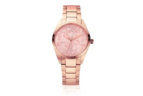 clogau gold pink enamel faced tree of