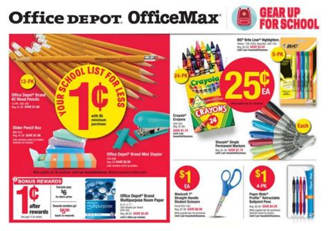 printable invitations office depot office depot back to school deals for the week of july 10