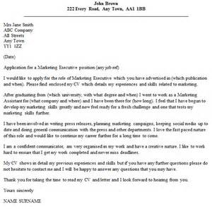 Cover Letter For Marketing by Marketing Executive Cover Letter Exle Cover Letters And Cv Exles