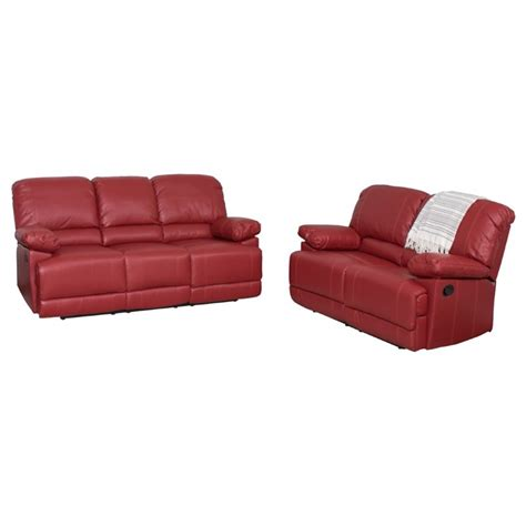 Leather Reclining Sofa Set by 2 Leather Reclining Sofa Set In Lzy 351 Z2
