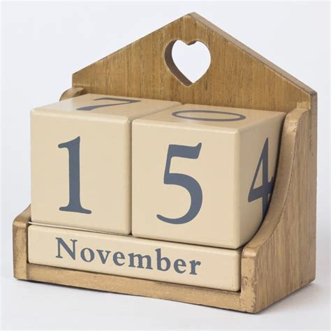 how to make a wooden calendar wooden perpetual calendar only 163 4 99