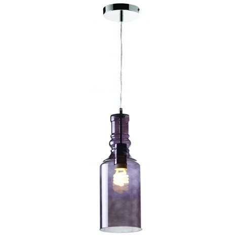 Endon Ceiling Lights Endon Lancaster 1smk Lancaster 1 Light Ceiling Pendant Smoked Glass