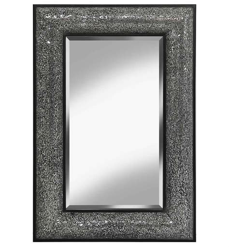 sparkle bathroom mirror rectangular crushed glass mosaic sparkle bevelled mirror