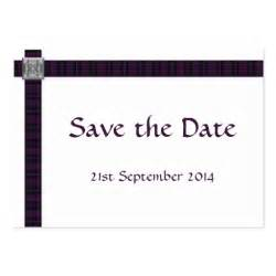 business save the date cards mini purple scottish tartan save the date cards business