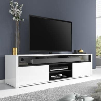 evoque white high gloss tv unit  soundbar shelf