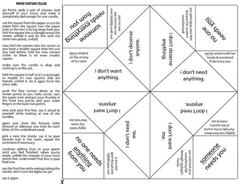 Origami Fortune Teller Ideas - printable fortune teller template calendar templates