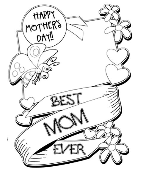 mothers day card templates to color free раскраски ко дню матери открытки ко дню матери и