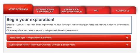 Harga Chanel Sukan Astro pakej astro naik mulai 11 julai 2011 tahniah astro