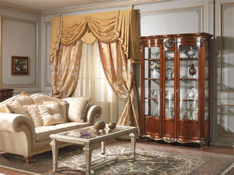 Showcase Furniture For Living Room Living Room With Glass Showcase Louis Xv Vimercati Classic Furniture