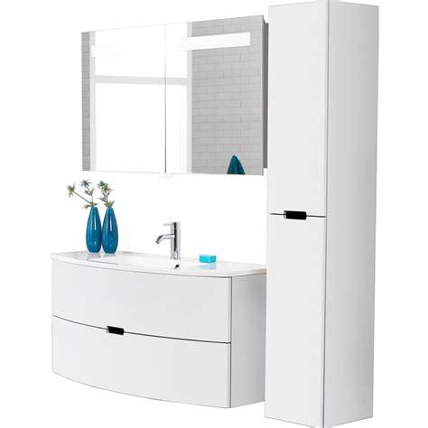 scanbad badm 246 bel set 90 cm mit spiegelschrank modern wei 223 - Spiegelschrank 3 Teilig