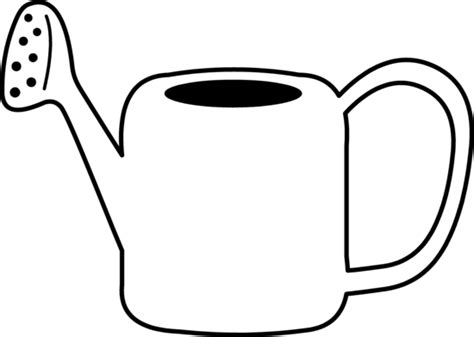 Watering Can Coloring Page watering can coloring page free clip