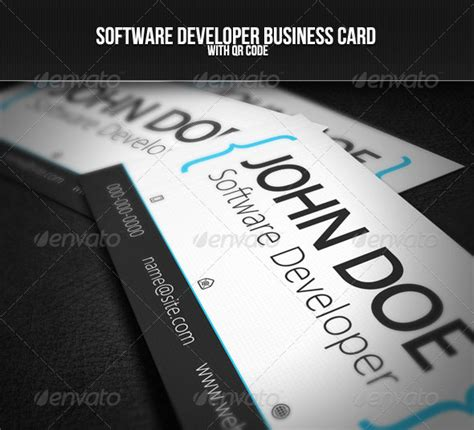 Software Developer Business Card Template by 56 Visually Stunning Psd Business Card Templates Web