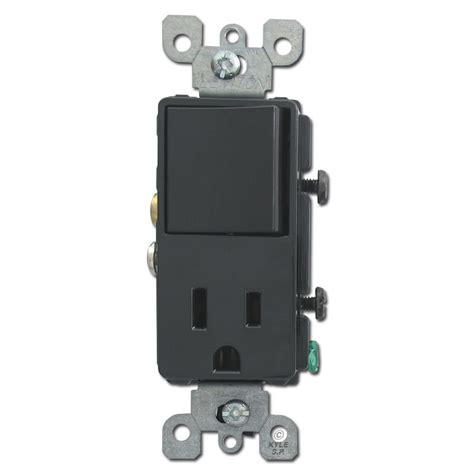 light switch and outlet combo black combo decora rocker switch and outlet