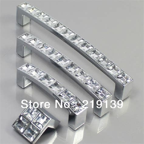 64mm clear zinc alloy cabinet door knobs and