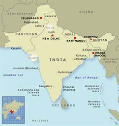 India Pakistan Map by India Pakistan And Bangladesh Indians Te Ara