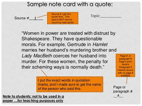 research note card slide template research paper ppt 11 15 12session2ss