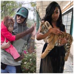 August alsina and rumored model girlfriend enjoy day out at the zoo