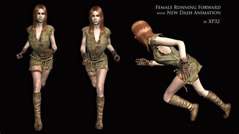 skyrim female running animation feminine running and new dash animation at skyrim nexus