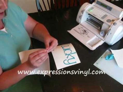 tutorial for vinyl lettering cricut vinyl complete instructions youtube