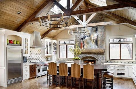 Kitchen Ceilings With Beams by Exposed Beam Ceiling Kitchen Design Ideas