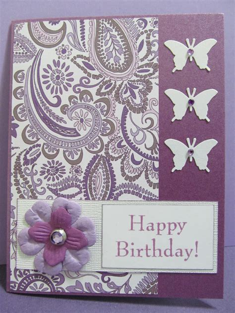 Happy Birthday Handmade Cards - savvy handmade cards butterfly happy birthday card